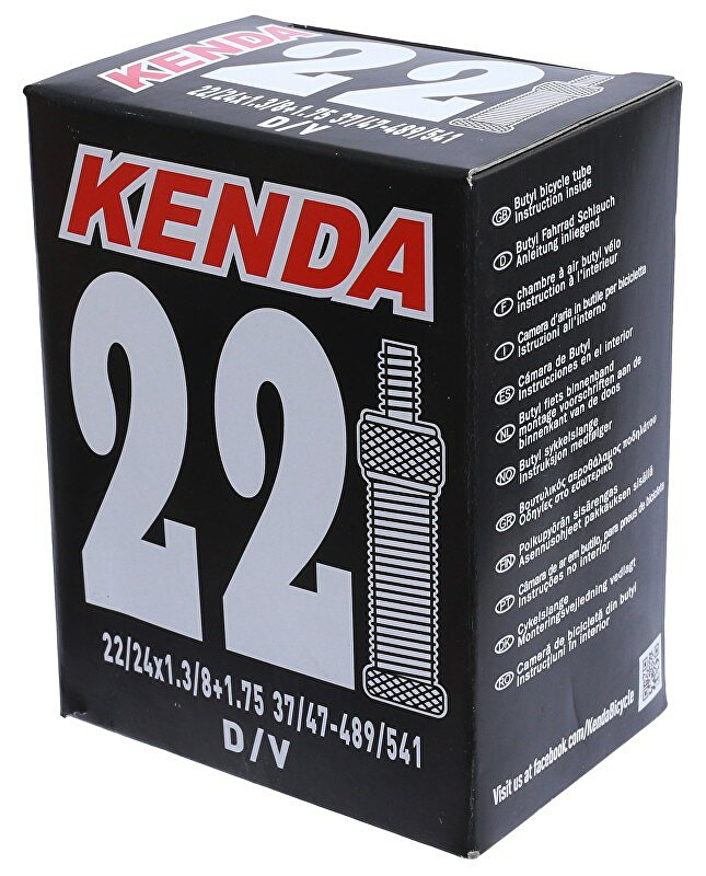 duše KENDA 22x1 3/8  (32/37-489/501) DV 28 mm