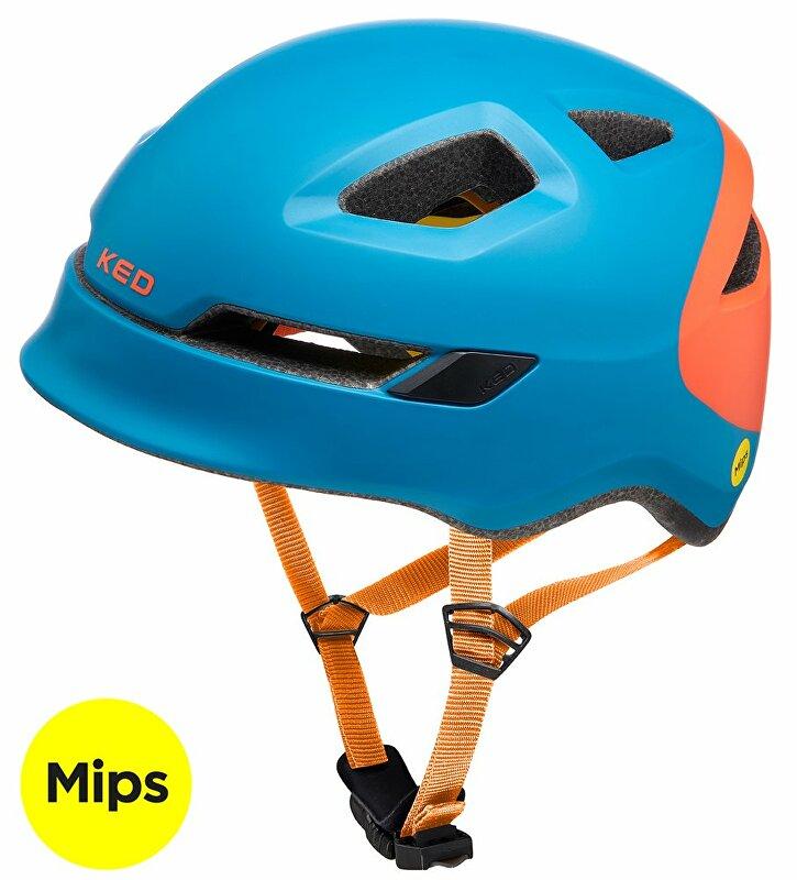 přilba KED Pop Mips M petrol orange 52-56 cm