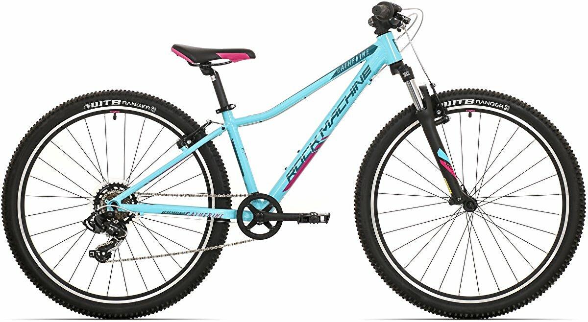 Dětské kolo Rock Machine Catherine 27  gloss neon mint/petrol blue/pink 2021