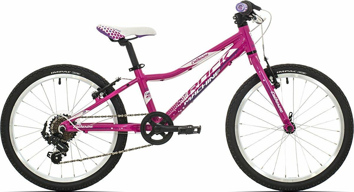 Dětské kolo Rock Machine Catherine 20 gloss pink/white/violet 2019