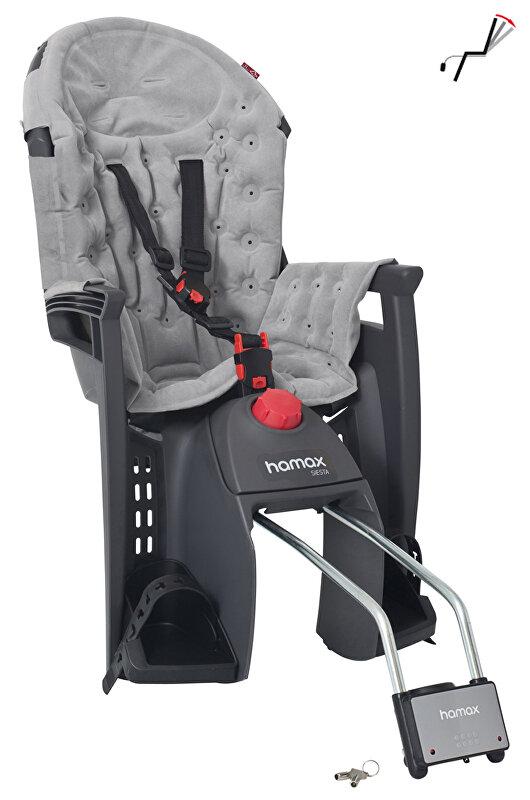 Dětská sedačka zadní HAMAX Siesta premium šedo/šedá