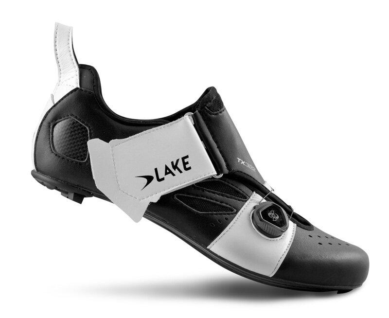 tretry LAKE TX322 Carbon černo/bílé vel.44