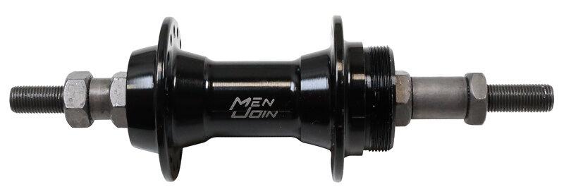 náboj zadní ložiskový hliníkový černý, 32 děr, 135 mm x 3/8 x 175 mm