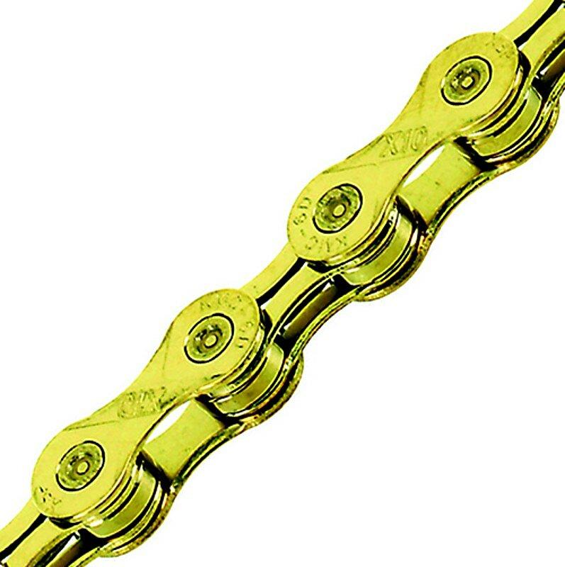 Řetěz KMC X-10 EL zlatý pokovený nitridem titanu