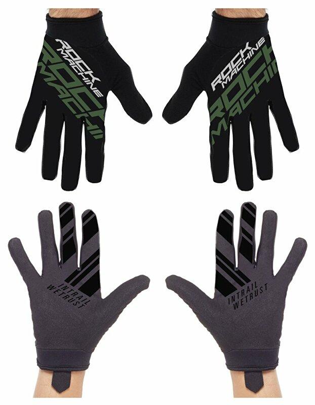 dlouhoprsté rukavice ROCK MACHINE Race khakki vel.L