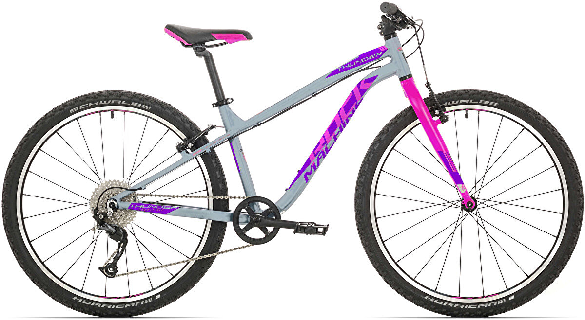 Juniorské kolo Rock Machine Thunder 26 (XS) gloss grey/pink/violet 2020