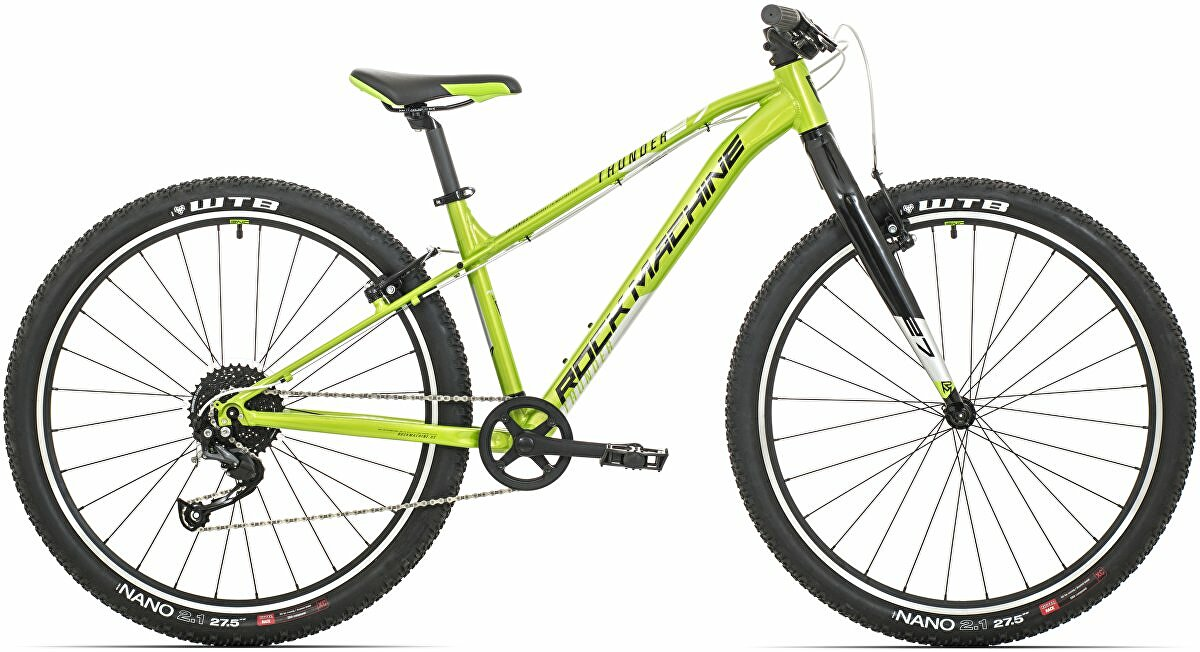 Juniorské kolo Rock Machine Thunder 27 DVO green/gloss silver/black 2020