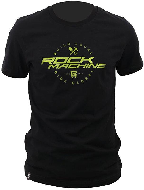 tričko ROCK MACHINE unisex černé vel. L logo BUILD LOCAL