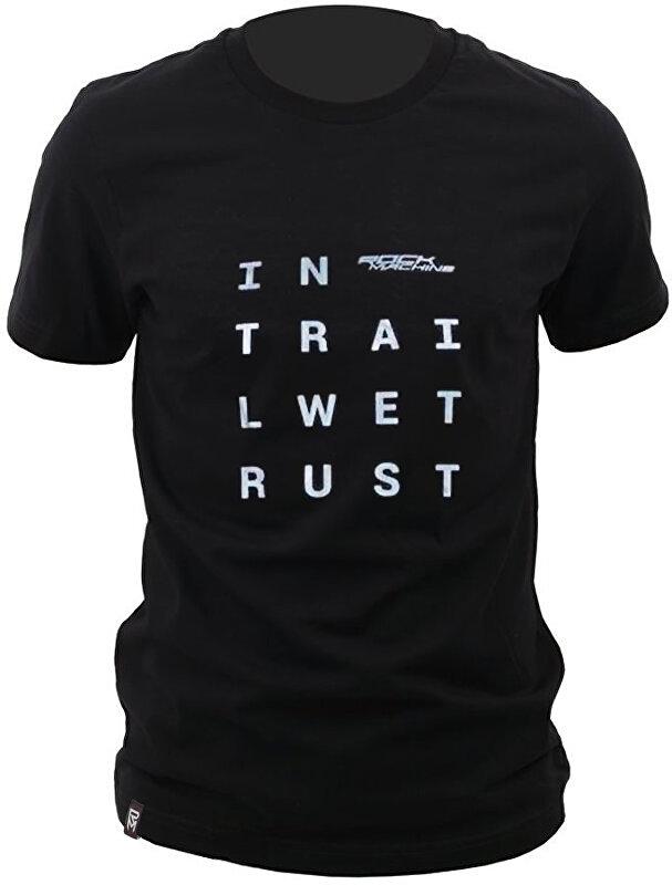 tričko ROCK MACHINE unisex černé vel. L logo IN TRAI LWET RUST