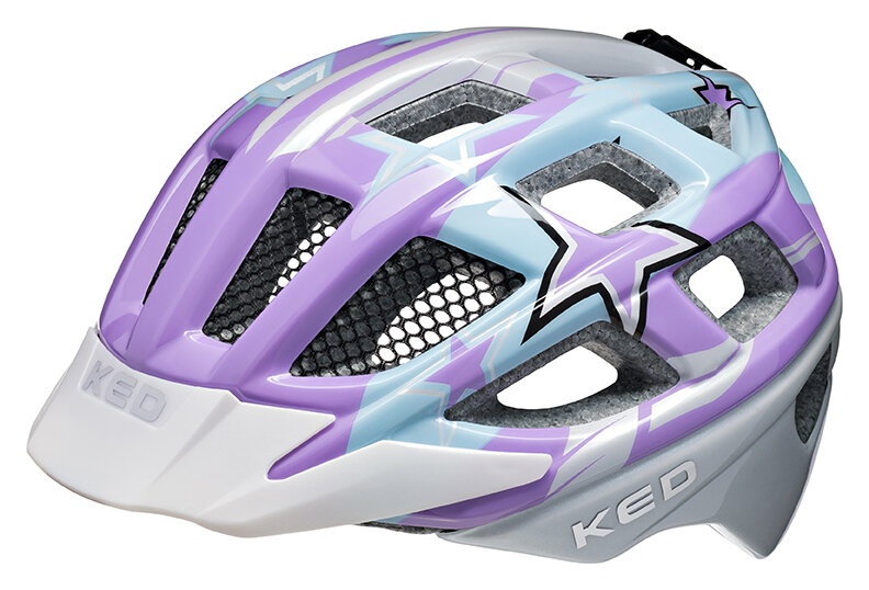 přilba KED Kailu M Purple Lightblue Stars 53-59 cm 2020