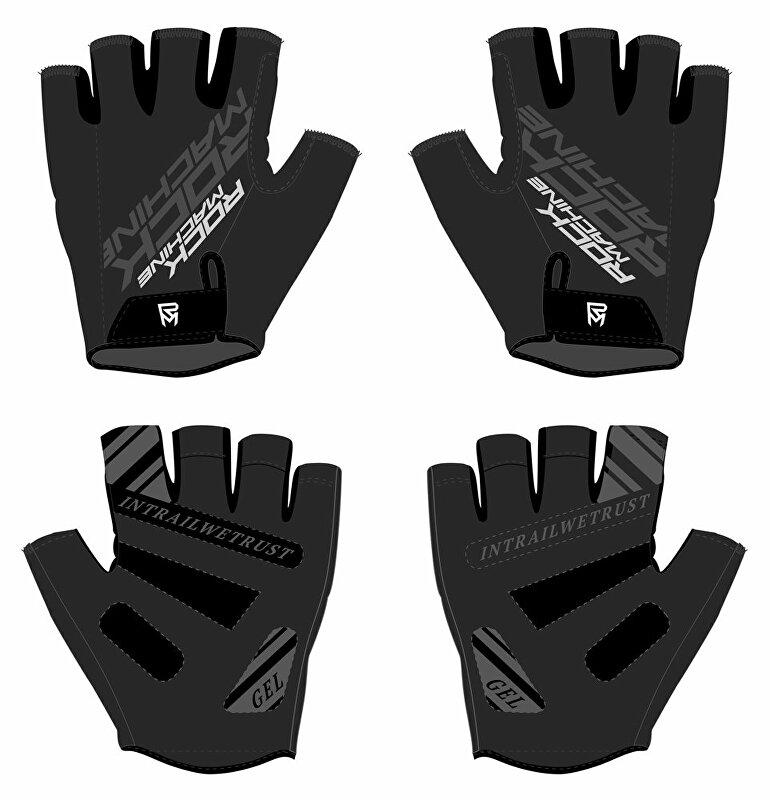 rukavice ROCK MACHINE Race šedo/černé vel.L