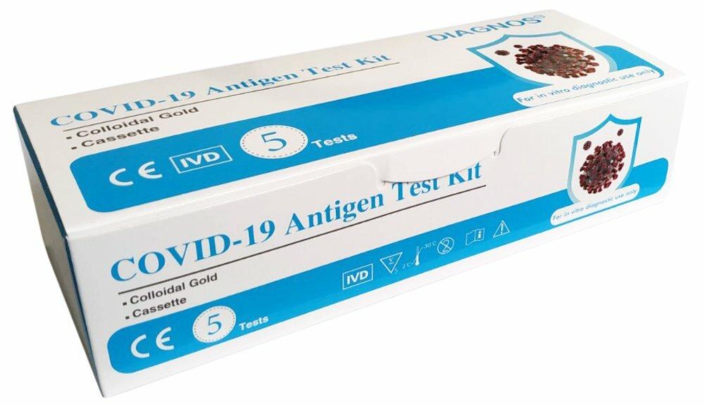 rychlý antigenní test DIAGNOS COVID-19 Antigen test kit s koloidním zlatem