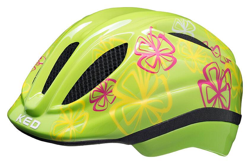 přilba KED Meggy Trend XS Green Flower 44-49 cm