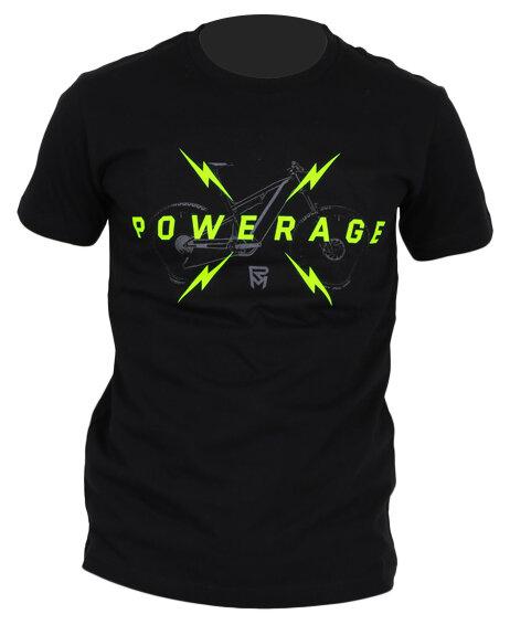 tričko ROCK MACHINE unisex černé vel. XL logo POWERAGE