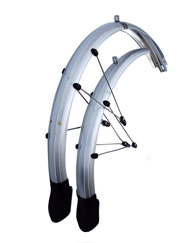 """blatníky set OLYMPIK 26"""" Lux se zástěrkou, 60mm, stříbrné"""
