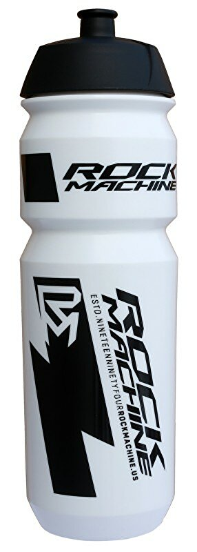 Lahev ROCK MACHINE Performance 0,85 l bílá