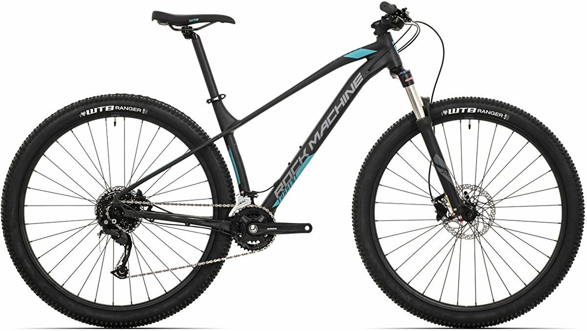 Horské kolo Rock Machine Torrent 30-29 mat black/dark grey/petrol blue  2021