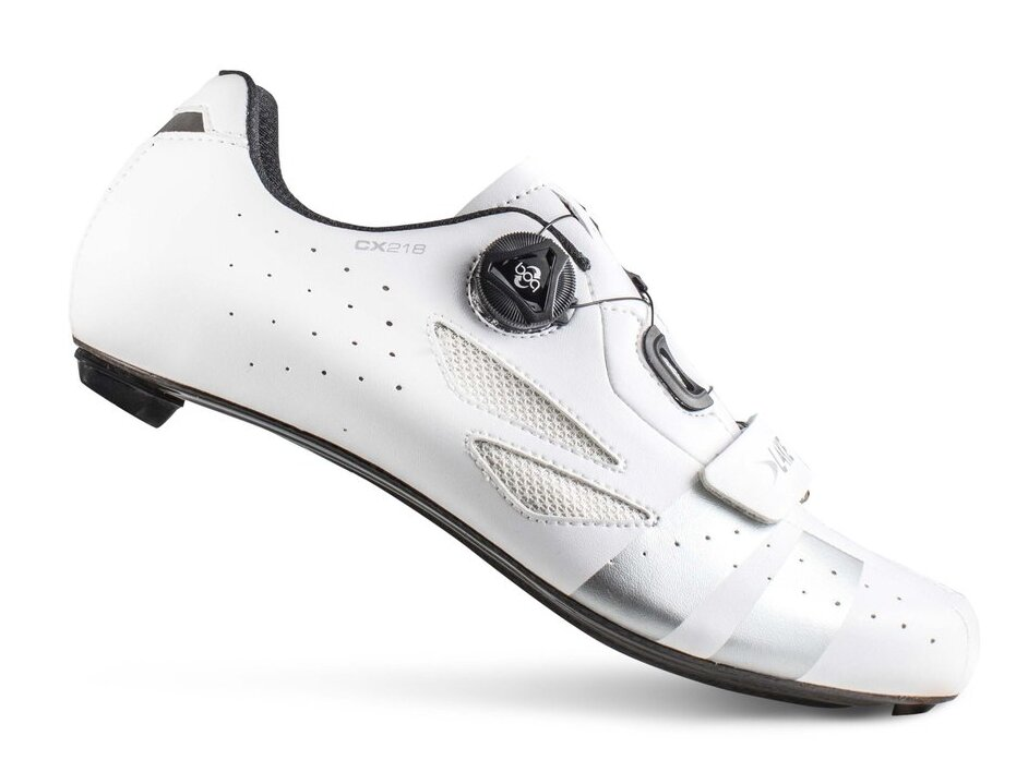 tretry LAKE CX218 Carbon bílo/stříbrné vel.42