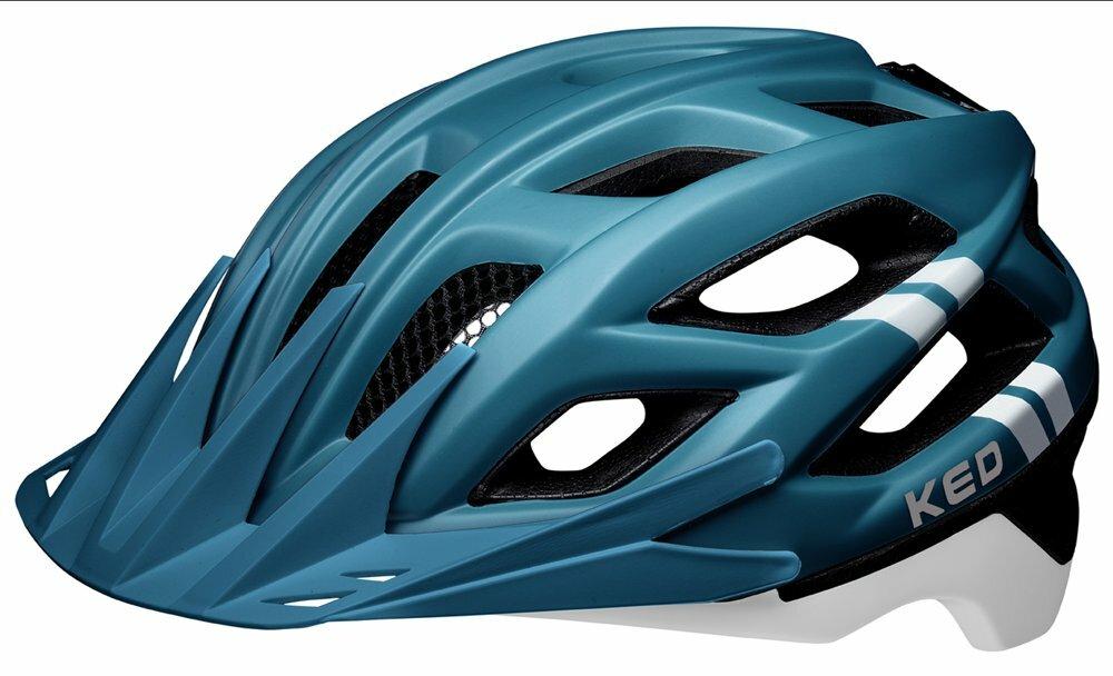 přilba KED Companion M blue white matt 52-58 cm