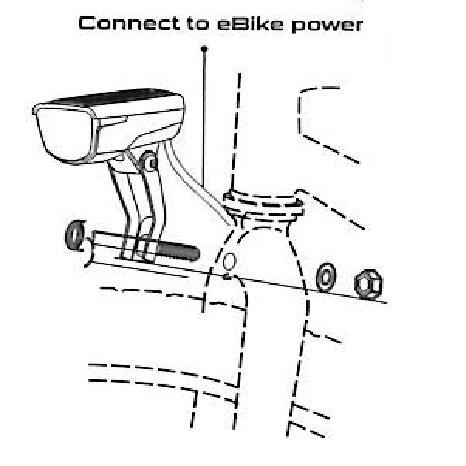 světlo přední SMART 192W RAYS E  E-bike