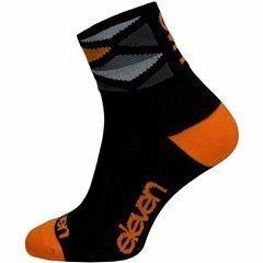 ponožky ELEVEN Howa Rhomb Orange vel. 2- 4 (S) černé/orange