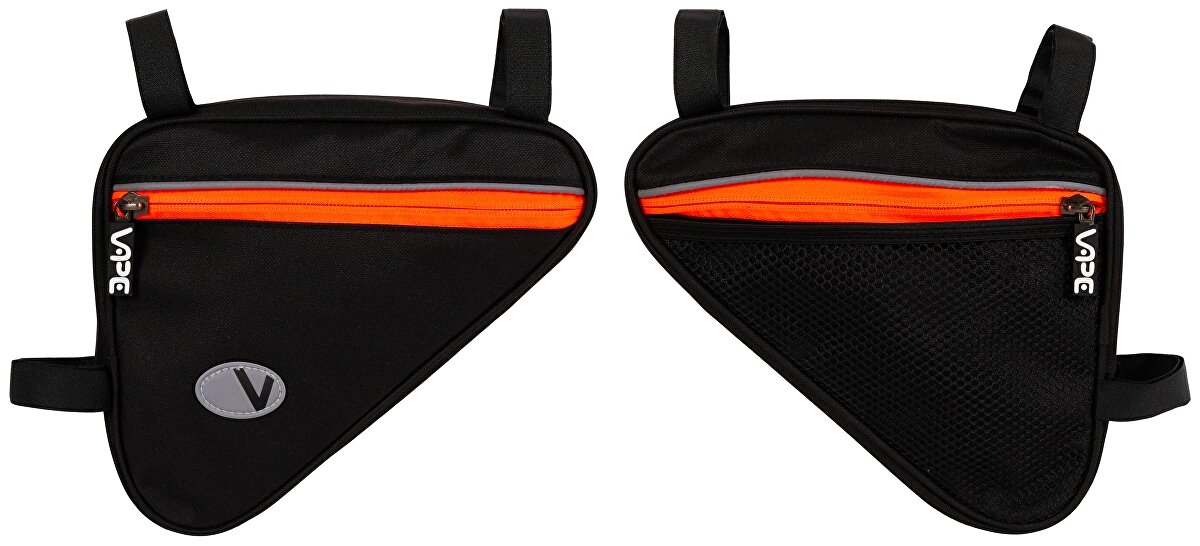 brašna VAPE trojúhelník malý černý/fluo oranžový zip