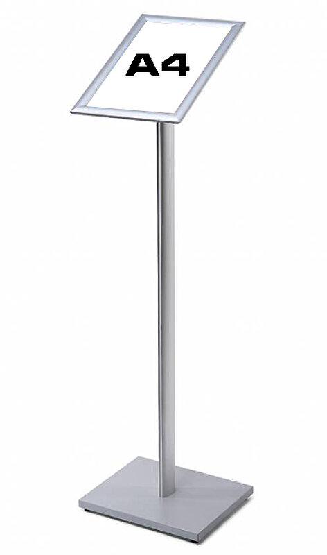 stojan s klaprámem A4 stříbrný