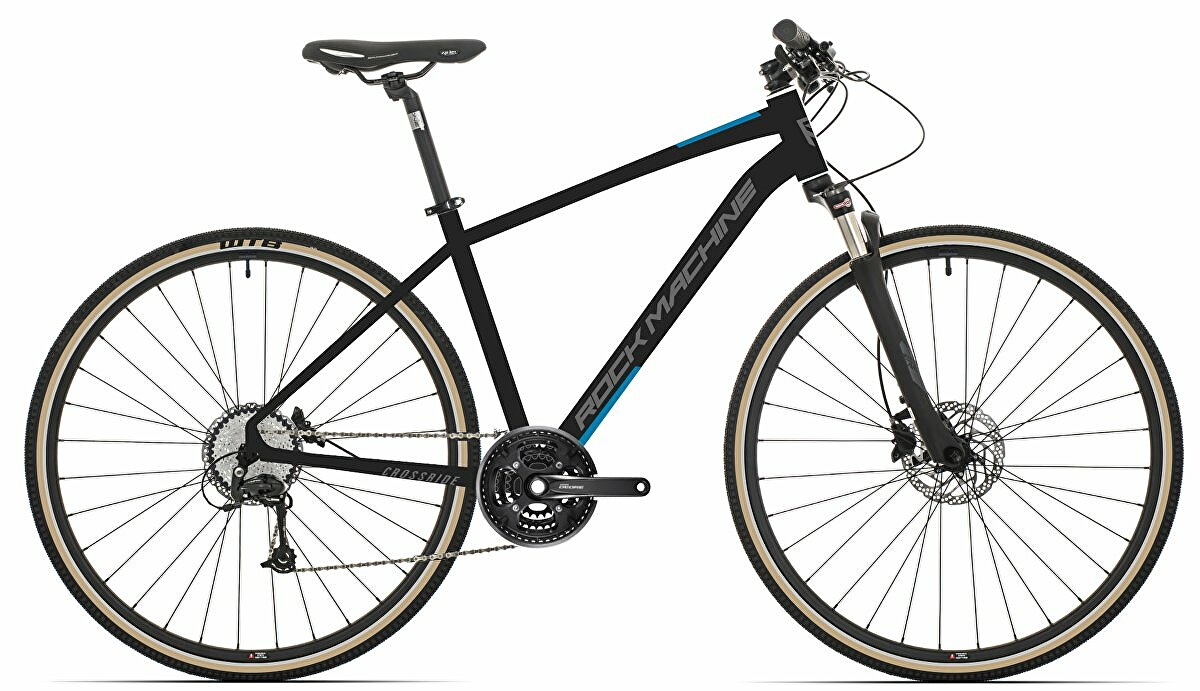 Krosové kolo Rock Machine CrossRide 700  mat black/dark grey/petrol blue  2021 vel. XL-21""