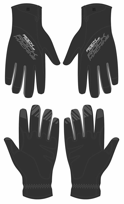 dlouhoprsté zimní rukavice ROCK MACHINE Race šedo/černé vel.L