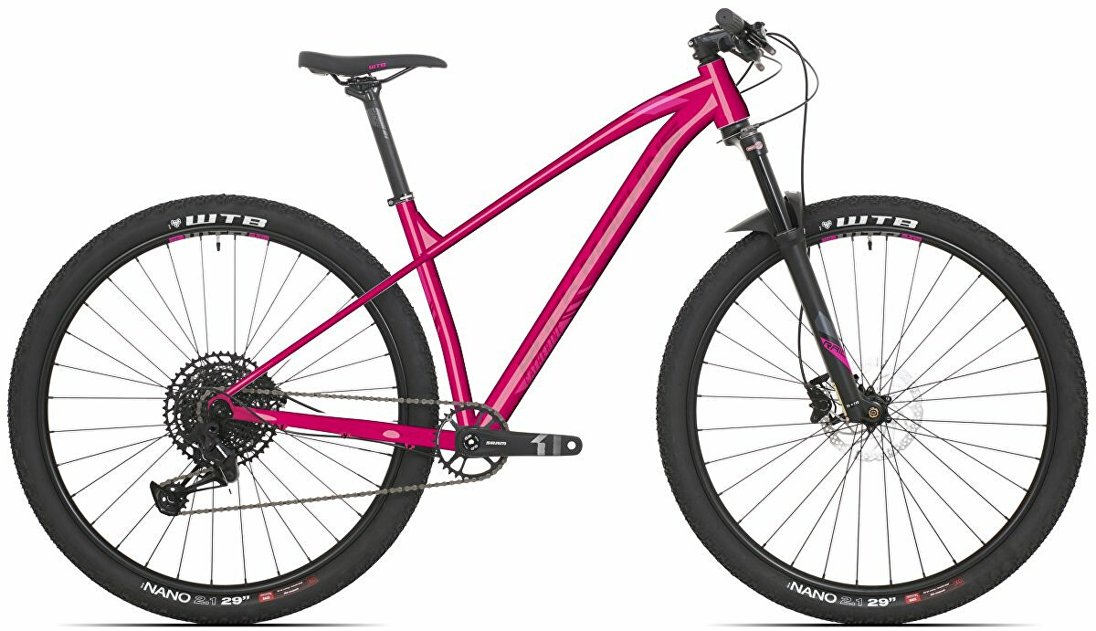 Dámské kolo Rock Machine Catherine 40-29  gloss pink/light pink/crimson 2021