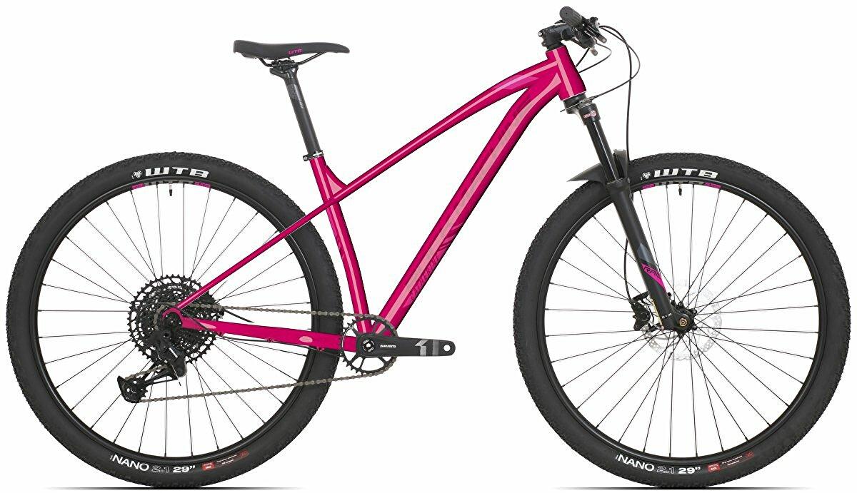 """Dámské kolo Rock Machine Catherine 40-29 gloss pink/light pink/crimson 2021 vel. S-15"""""""