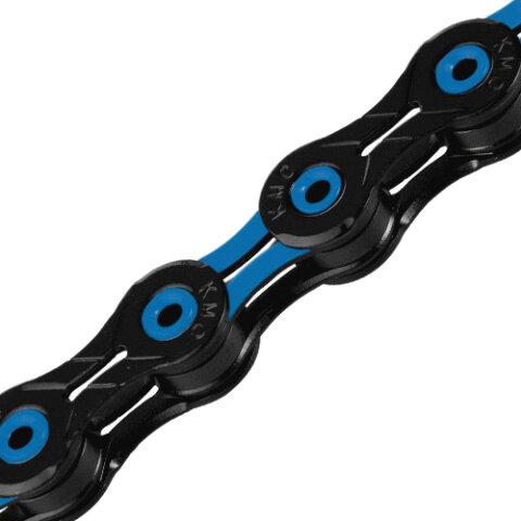 Řetěz KMC DLC 11 modro/černý v krabičce