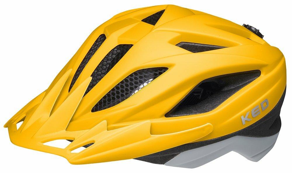 přilba KED Street Junior Pro S yellow grey matt 49-55 cm