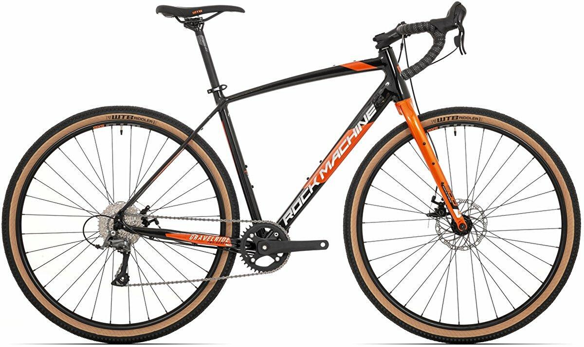 Gravel Rock Machine GravelRide 200 gloss black/brick orange/silver 2021