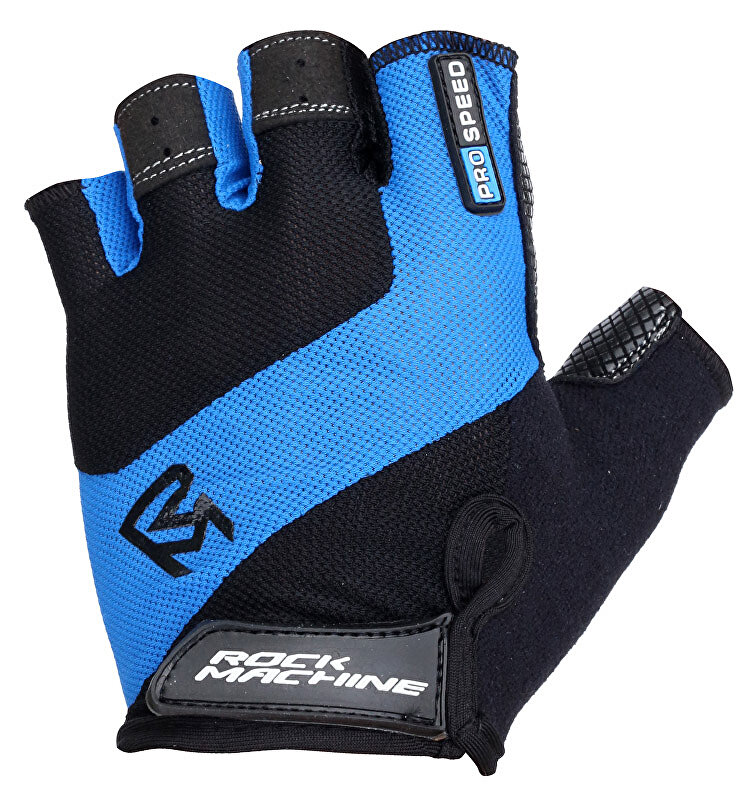 rukavice ROCK MACHINE ProSpeed modro/černé vel. S