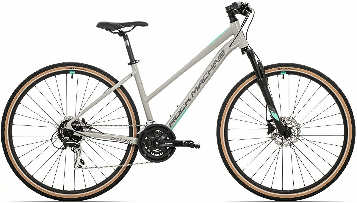 Dámské kolo Rock Machine CrossRide 300 lady  gloss light grey/dark grey/mint   2021 vel. L-19""