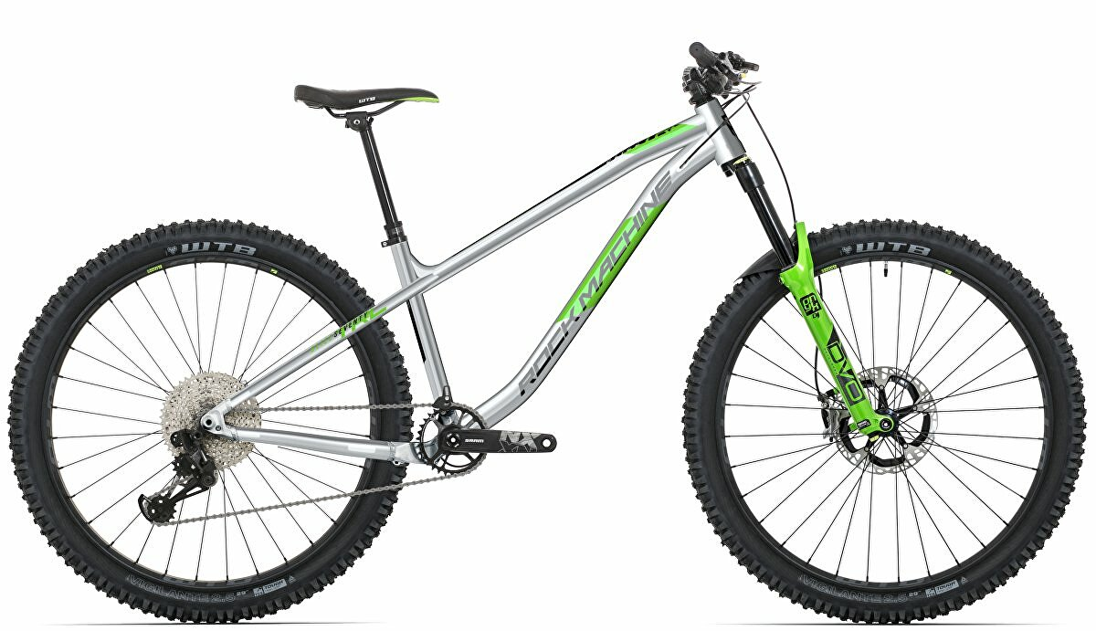 Horské kolo Rock Machine Blizz TRL 70-29  gloss light grey/DVO green/black 2021