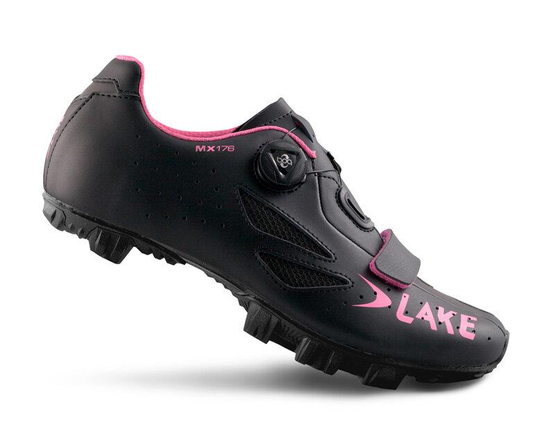 tretry LAKE MX176 černo/růžové vel.36
