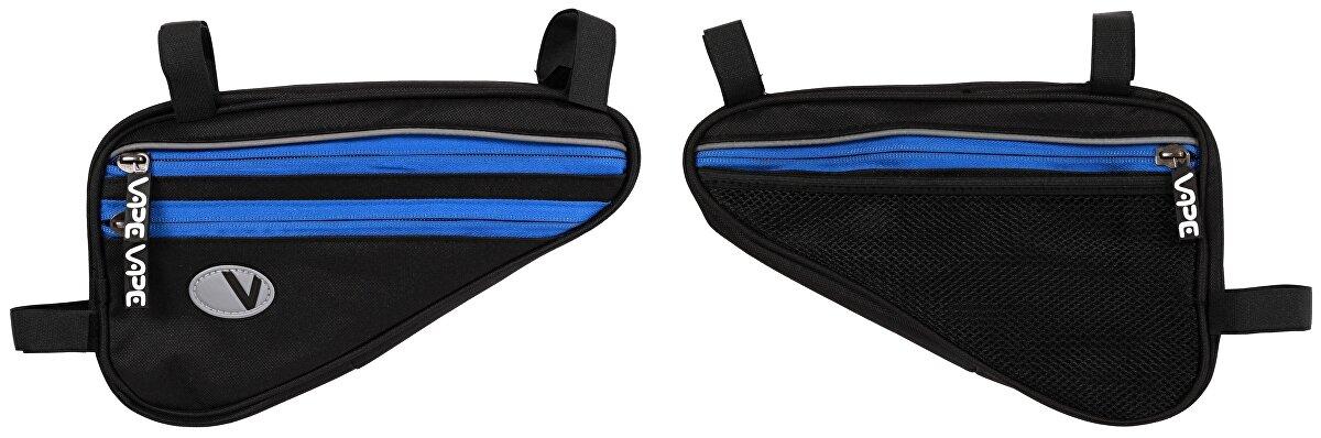 brašna VAPE trojúhelník plochý 4 kapsový černý/modrý zip