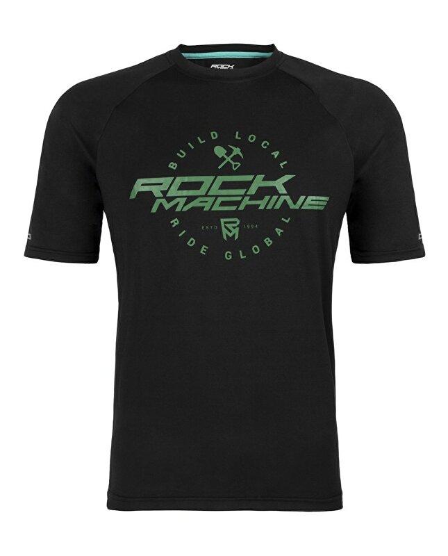 dres ROCK MACHINE Enduro černo/zelený vel.L