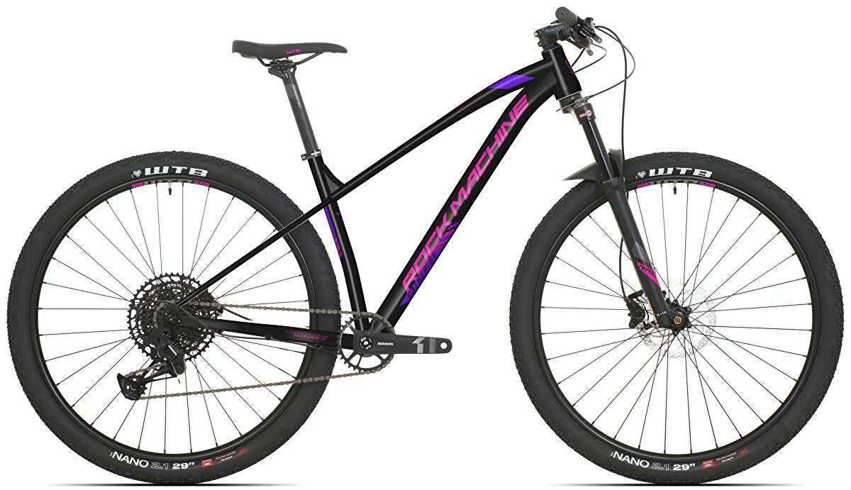 Dámské kolo Rock Machine Catherine 10-29 (S) mat anthracite grey/pink/violet 2021