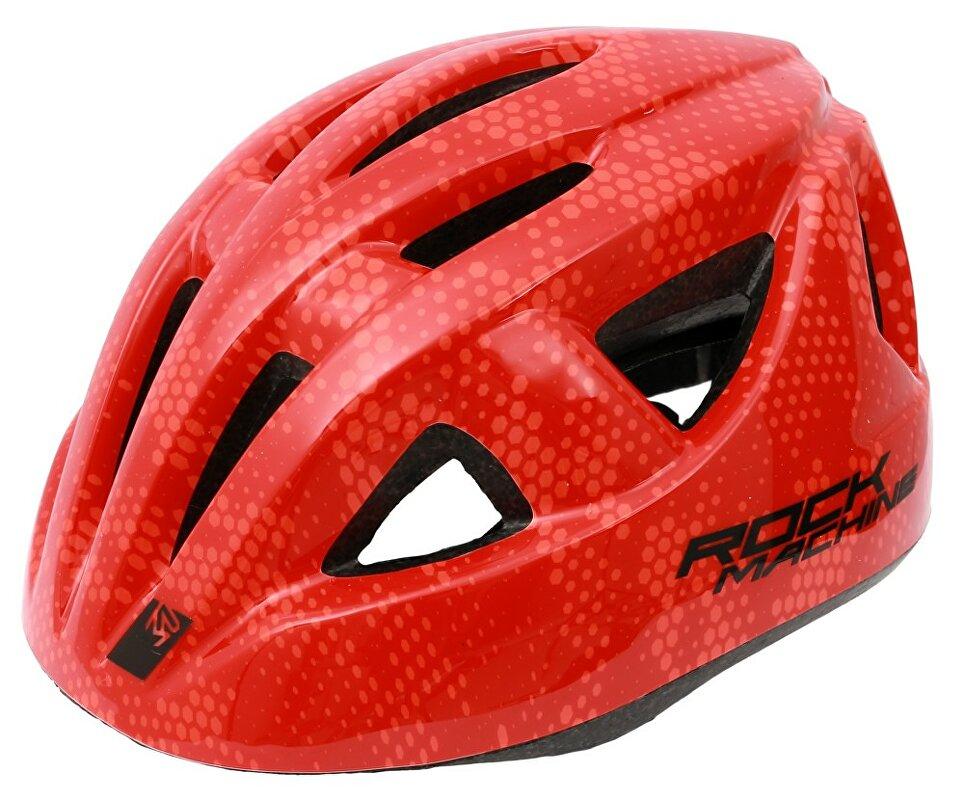 přilba ROCK MACHINE Racer červená vel. XS/S 48-52 cm