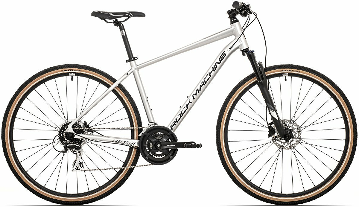 Krosové kolo Rock Machine CrossRide 300  gloss silver/black 2021 vel. XL-21""