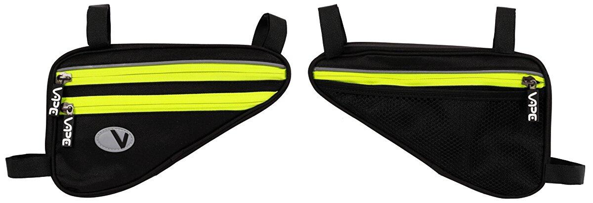 brašna VAPE trojúhelník plochý 4 kapsový černý/fluo žlutý zip