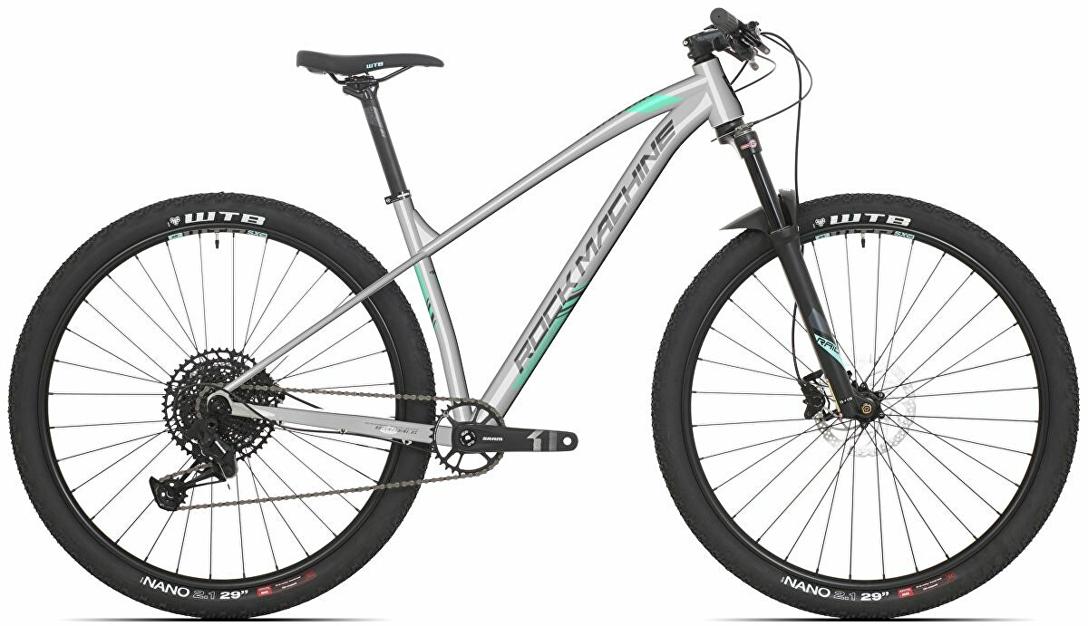Dámské kolo Rock Machine Catherine 60-29  gloss grey/mint green/dark grey 2021