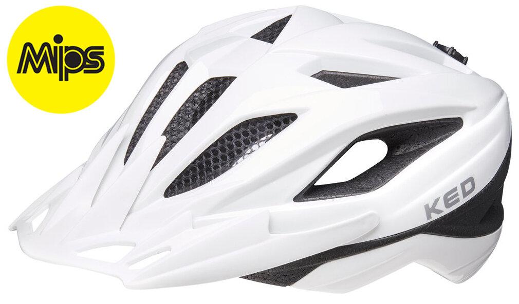 přilba KED Street Junior MIPS M white 53-58 cm