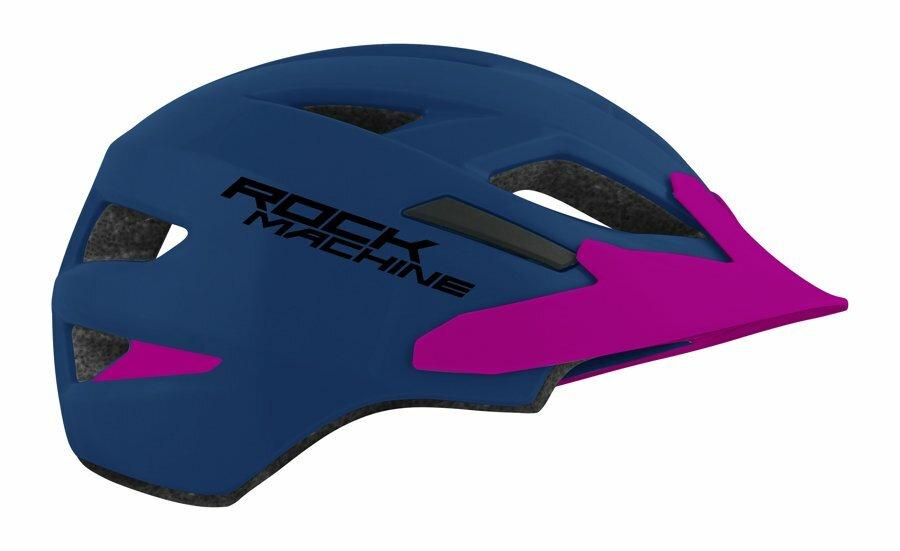 Přilba ROCK MACHINE Fly modro/fialová vel. XS/S 52-56 cm