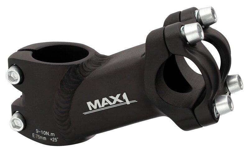 představec MAX1 High 75/25°/25,4 mm černý