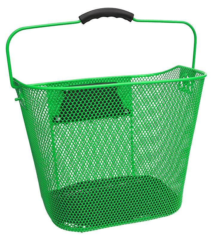koš přední oválný s klipem a držadlem zelený