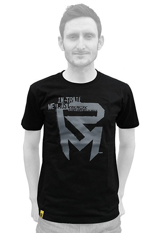 tričko ROCK MACHINE pánské černé vel. M logo IN-TRAIL